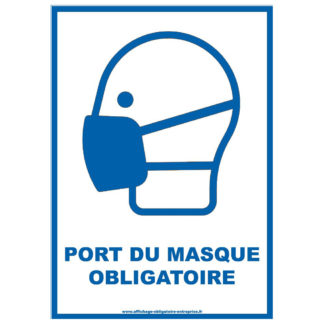 Affiche Port du masque obligatoire gratuite en PDF