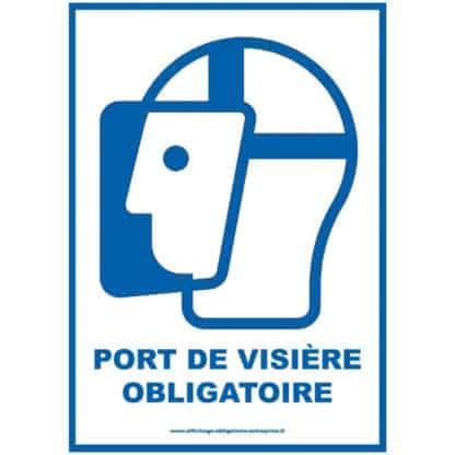 Port de visière obligatoire
