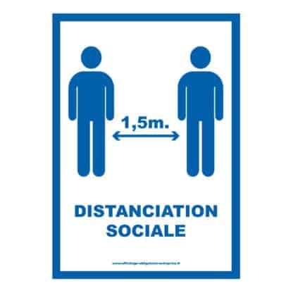 Distanciation sociale Covid 19 • Affiche PDF à télécharger